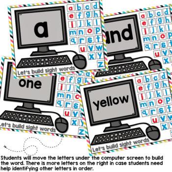 Pre-K Dolch List Google Classroom Build a Word