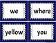 Pre-K Dolch Sight Word Cards