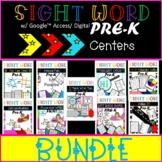 Pre-K Sight Word Centers/ Activities | Low Prep | Hands On