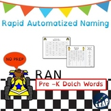 Pre-K Dolch Sight Word Fluency - Rapid Naming Boards