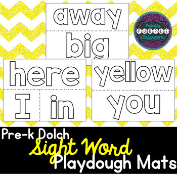 Pre-K Dolch Sight Word Playdough Mats