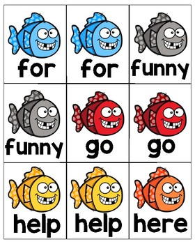 Pre-K Dolch Sight Words Go Fish!