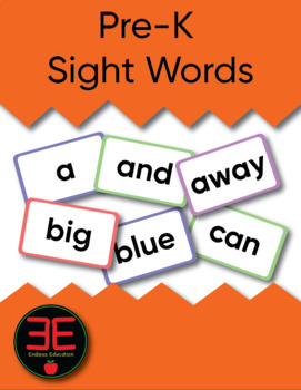 Pre-K Dolch Sight Words Posters and Flash Cards