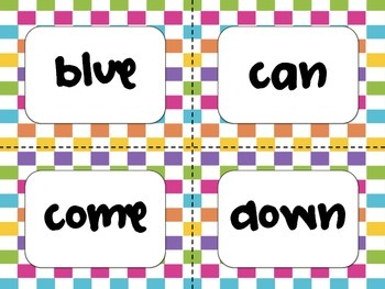 Pre-K Dolch Word Cards