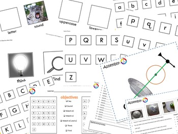 """An Alphabetic Principle Game """"Getting Ready For Reading!"""""""