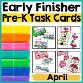 Pre-K Early Finisher Task Cards - April