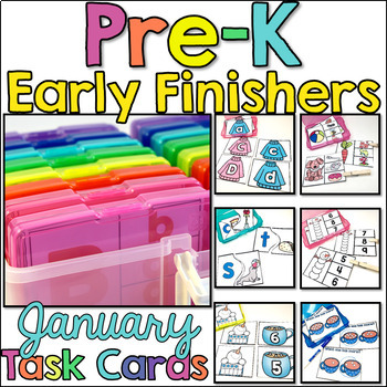 Pre-K Early Finisher Task Cards - January