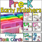 Pre-K Early Finisher Task Cards - May