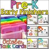 Pre-K Early Finisher Task Cards - October