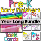 Pre-K Early Finisher Task Cards - Year Long Bundle