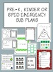 Pre- K Emergency Sub Plans Bundle - No Prep