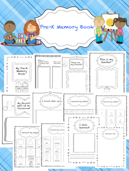Pre-K End of the Year Memory Book (No Prep!)