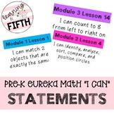Pre-K Eureka Math I Can Statements