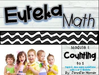 "Pre-K Eureka Module 1, Topic E-""How Many?"" with 4 or 5 PDF presentation"