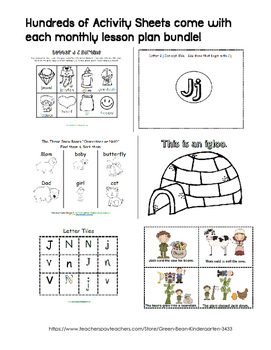 Pre-K FULL Year Lesson Plans - Months 1-9 by GBK!