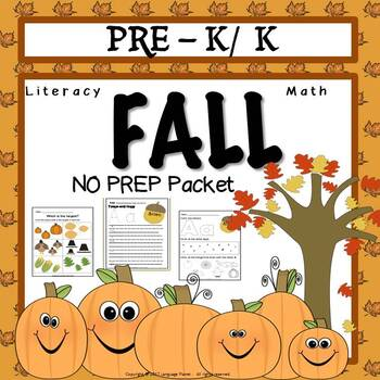Pre K Fall Literacy and Math