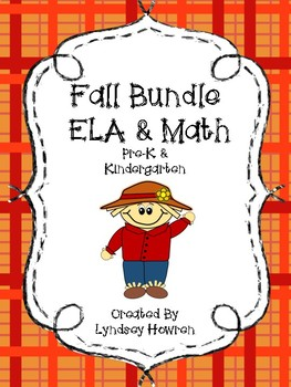 Pre-K Fall Math and ELA worksheets