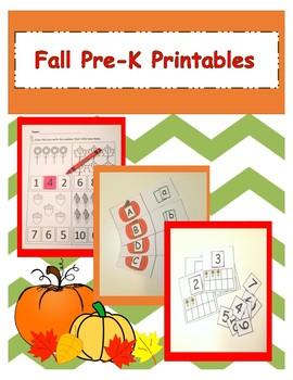 Pre-K Fall Printables
