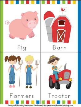 Pre-K Farm Animals Learning Pack