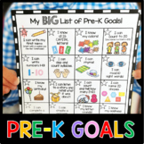 Pre-K Goals Checklist - Incentive Chart - Awards - Common Core Math & ELA PreK