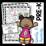 Pre-K Goals Checklist - Incentive Chart - Awards - Common Core Math & ELA PreK