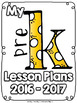 (Pre K) Grade and Subject Lesson Plan Dividers