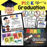 Pre-K Graduation BUNDLE - Diploma - Invitation - Banner - Announcements PREK PK