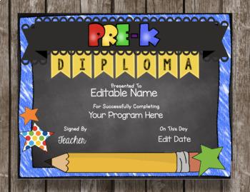 Pre-K Graduation BUNDLE - Diploma - Invitations - Favors - PreK