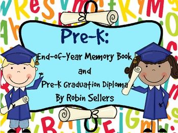 Pre-K Graduation Certificates Invitations and Memory Book by Robin ...