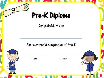 pre k graduation certificates invitations and memory book by robin