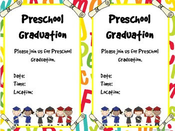 It's just a graphic of Punchy Preschool Graduation Invitations Free Printable