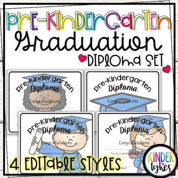 Pre-K Graduation Diploma Set