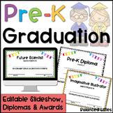 PreK Graduation Diplomas, Awards & Google Slides