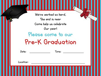 Pre-K Graduation Invitation & Certificate