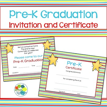 Pre-K Graduation Invitation and Certificate