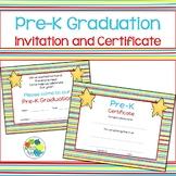 Pre-K Graduation Invitation and Certificate