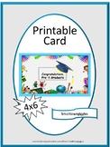 Pre-K Graduation card, Digital Download, Instant Printable,