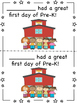 Pre-K Half Page First Day Certificates