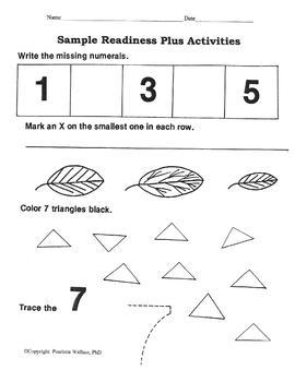 Pre-K  Curriculum - 60 Activities - Readiness Plus Booklet