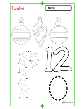 Pre-K Holiday Counting Booklet