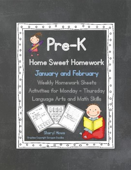 Pre-K Homework: January and February Home Sweet Homework