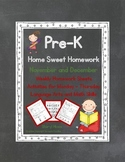 Pre-K Homework: November and December Home Sweet Homework