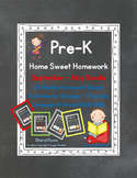 Pre-K Homework: September - May Home Sweet Homework Bundle