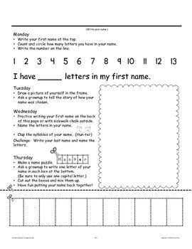Pre-K Homework: September and October Home Sweet Homework
