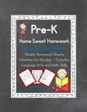 Pre-K Homework: September and October Home Sweet Homework