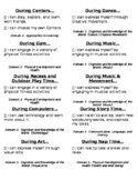 Pre K I Can Statements for Schedule and Flow of the Day Chart
