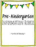 Pre-K Information Writing Rubric