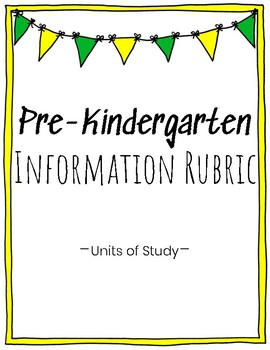 Pre-K Information Writing Rubric