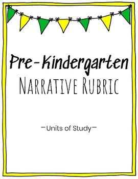 Pre-K Narrative Writing Rubric