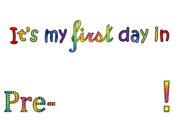 Pre-K Interactive First Day of School Poster!
